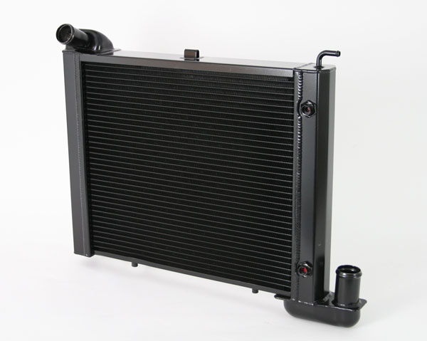 "DeWitts 1239063A |  Direct Fit Radiator Corvette, SB all, Auto 2 row 1"" Tube, Black Ice; 1963-1967"