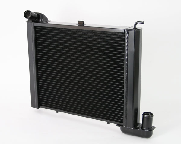DeWitts (1249063M)  Direct Fit Radiator 1963-67 Corvette, SB all Manual 2 row 1.25'' Tube, Black Ice