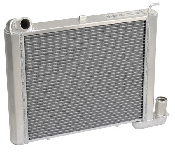 "DeWitts 1149063M |  Direct Fit Radiator HP Corvette, SB all Manual 2 row 1.25"" Tube, Natural; 1963-1967"