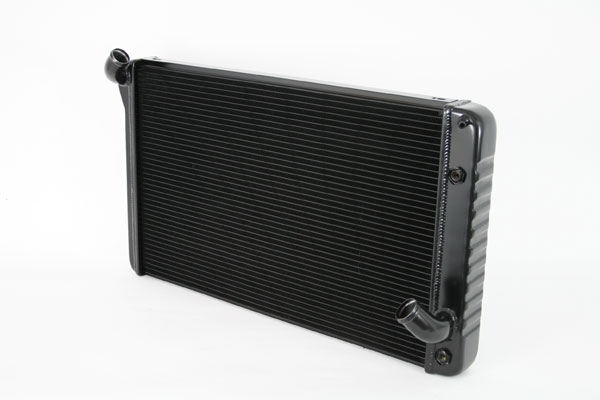 "DeWitts 1249069A |  Direct Fit Radiator Corvette, BB Auto 2 row 1.25"" Tube, Black Ice; 1969-1972"