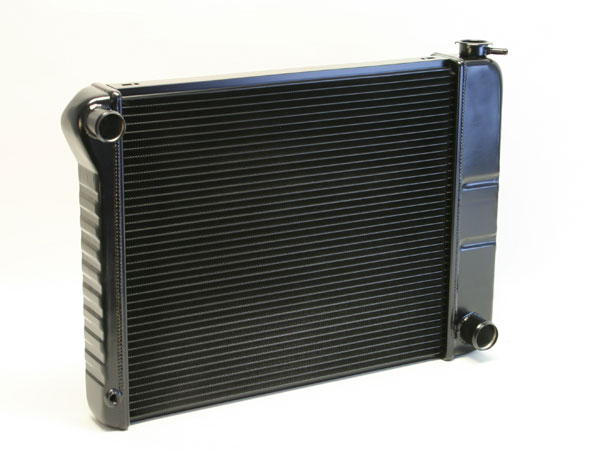 "DeWitts 1239035M |  Direct Fit Radiator Nova all, 23.5"" Core CF, Manual, 2 row 1"" Tubes, Black Ice; 1973-1974"