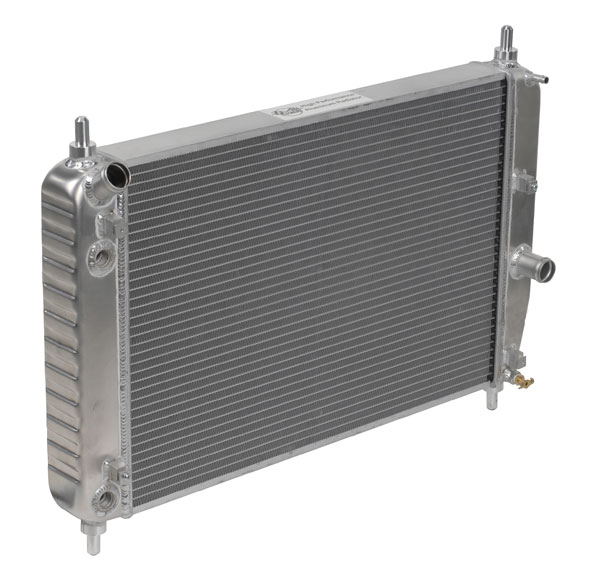 "DeWitts 1139105E |  Direct Fit Radiator Corvette, Double Core 2 row 1"" Tube with optional oil cooler, Natural; 2005-2013"
