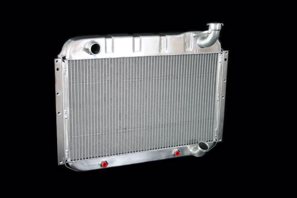 "DeWitts 1139055A |  Direct Fit Radiator Corvette, DF Auto 2 row 1"" Tube, Natural; 1955-1960"