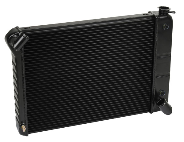DeWitts (1249066A)  Direct Fit Radiator 1966-67 Corvette, BB Auto 2 row 1.25'' Tube, Black Ice