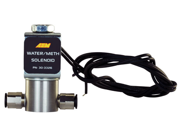 AEM 30-3326 | Water/Methanol Injection System - High-Flow Low-Current WMI Solenoid - 200PSI 1/8in-27NPT In/Out