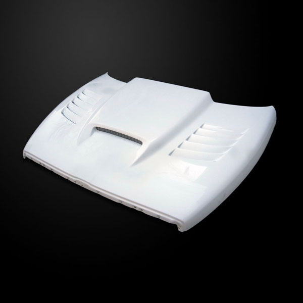Amerihood DR94AHSSKFHW25 |  Dodge Ram 2500 SSK Style Functional Heat Extraction Ram Air Hood; 1994-2002