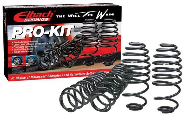 Eibach 6014.140: MITSUBISHI Eclipse 2WD Incl. GS GS-T RS & Turbo; Exc. Spyder GS-T 1995 - 1999 PRO-KIT Perf. Springs (Set of 4)