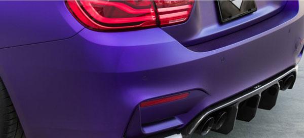 Vorsteiner 4250bmv   2014+ BMW M3/M4 (F8X) VRS GTS-V Rear Diffuser Carbon Fiber PP 2x2 Glossy; 2014-2020