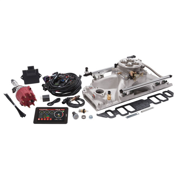 Edelbrock 35860 | Pro Flo 4 EFI System Seq Port BBC Rect Port 9.8 Deck 775 Max HP 60lb/hr Satin Finish
