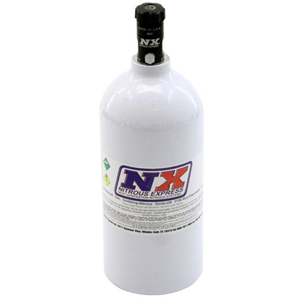 Nitrous Express 11025   2.5lb Bottle w/Motorcycle Valve (4.38 Dia x 12.37 Tall)