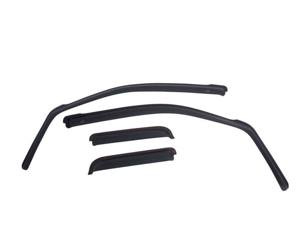 EGR 571655wb | 2019 Chevy 1500 Crew Cab In-Channel Window Visors - Matte Black; 2019-2019