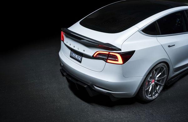 Vorsteiner tev1050 | Tesla Model 3 Volta Rear Diffuser Carbon (Track Edition) Fiber PP 2x2 Glossy; 0-0