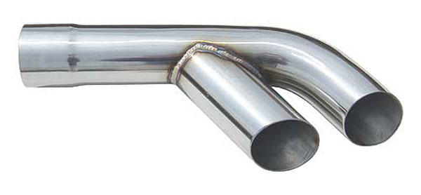Pypes Exhaust EVT16: Pypes 64-65 72 Pontiac GTO 2.5'' Stainless Exhaust Splitters (pair)