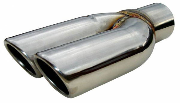 Pypes Exhaust EVT19S: Pypes REAR SPLITTERS 2.5 Stainless Rolled Edge