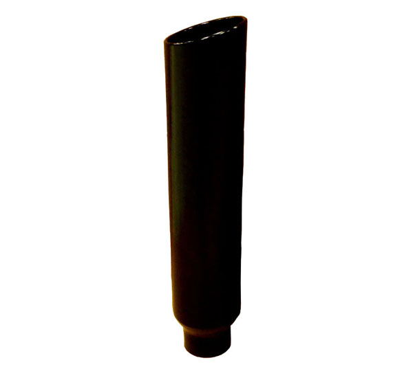 Pypes Exhaust EVT506-36B: Pypes Diesel Truck 5'' in - 6'' out, 36'' long Stack Tip (each) - Black