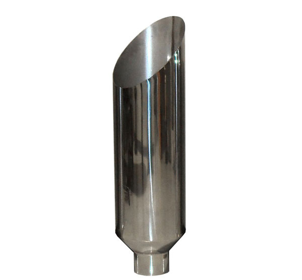Pypes Exhaust EVT507-36AC: Pypes Diesel Truck 5'' in - 7'' out, 36'' long Stack Tip (each) - Miter Stack in Polished