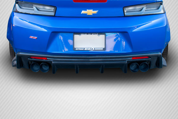 Carbon Creations 113050 | 2016-2017 Chevrolet Camaro Carbon Creations Grid Rear Diffuser - 1 Piece