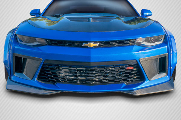Carbon Creations 113179 | Chevrolet Camaro Carbon Creations DriTech Grid Front Bumper Air Duct Extensions Add Ons 2-Piece; 2016-2017
