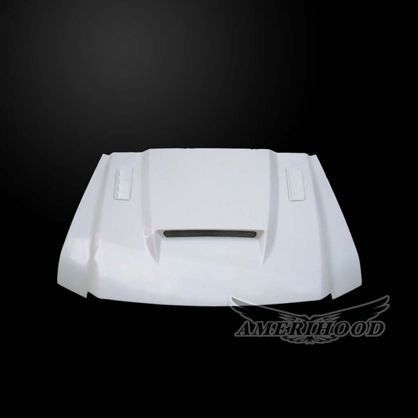 Amerihood (F3503AHSSKFHWD) Ford F-350 2003-2007 Super Duty 6.0L Diesel SSK Style Functional Heat Extraction Ram Air Hood
