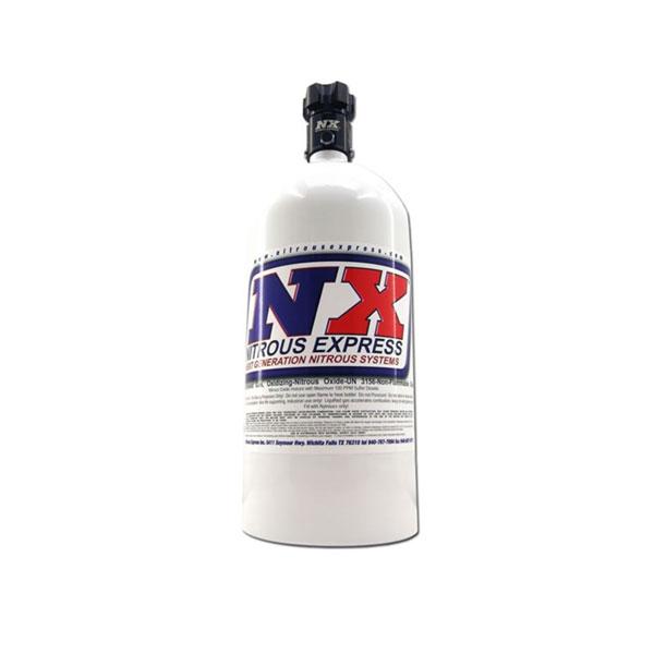 Nitrous Express 11050 | 5lb Bottle w/Lightning 500 Valve (5.25 Dia x 17.64 Tall)