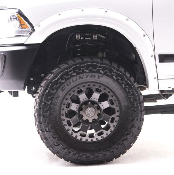 EGR 792854-pw7 | 10+ Dodge Ram HD Bolt-On Look Color Match Fender Flares - Set - Bright White; 2010-2020
