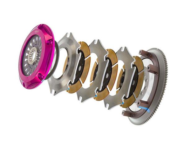 Exedy Racing MM063HB | Exedy Hyper Triple Cerametallic Clutch Kit MITSUBISHI LANCER L4 2; Rigid Disc; Pull Type; 2008-2015