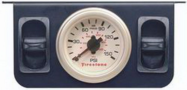 Firestone 2260 | Air Adjustable Leveling Electric Control Panel w/Dual Gauge 0-150psi - White (WR17602260)