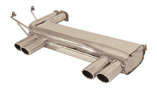 B&B Billy Boat Exhaust FBMW-1250 | B&B Tri-Flo Exhuast Quad Round Tips BMW M3; 2001-2006