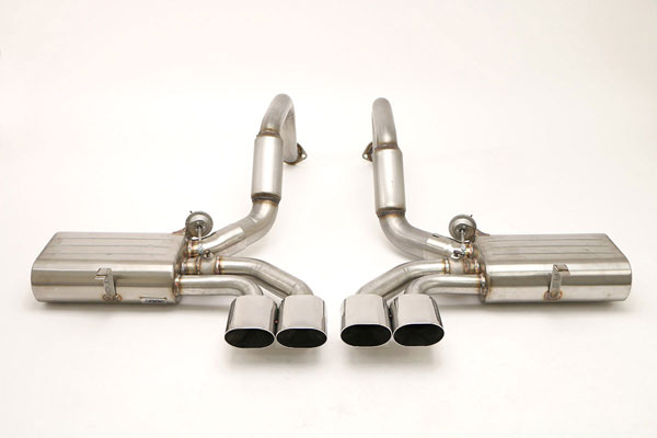 B&B Billy Boat Exhaust FCOR-0155: Billy Boat B&B Chevrolet Corvette 1997 - 2004 C5 Fusion Quad Oval