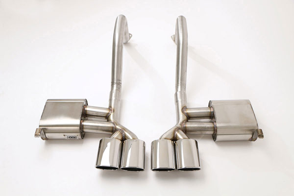 B&B Billy Boat Exhaust FCOR-0205 | B&B PRT Exhaust System with Quad Oval Tips Corvette C5; 1997-2004