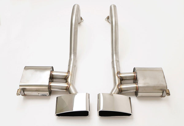 B&B Billy Boat Exhaust FCOR-0240: B&B PRT Exhaust System with Speedway Tips Corvette C5 1997-04