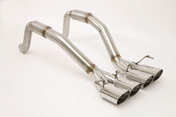 B&B Billy Boat Exhaust FCOR-0410 | B&B Corvette C6 Bullet System Quad 4.5 Double Wall Oval Tips; 2005-2008