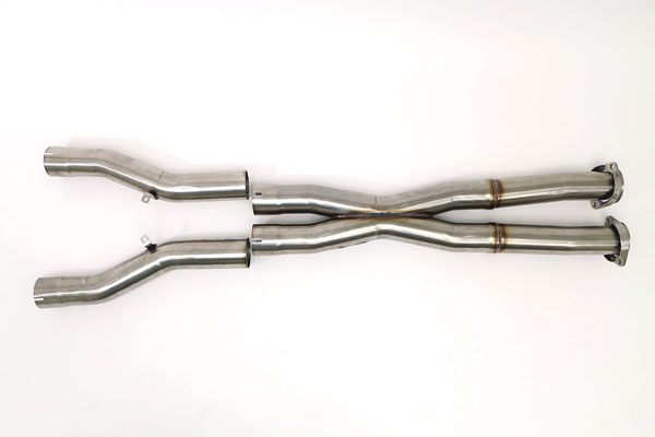 B&B Billy Boat Exhaust FCOR-0432: Billy Boat B&B Chevrolet Corvette 2006 - 2013 C6 Z06/ZR1 X-Pipe 3''