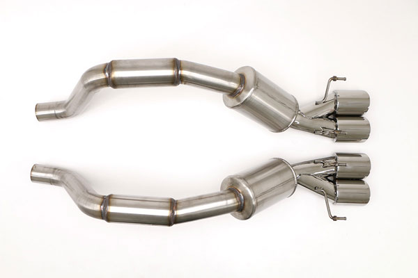 B&B Billy Boat Exhaust FCOR-0465 | B&B Corvette C6 Z06 ZR1 Bullet System Quad 4 Double Wall Round Tips; 2006-2013
