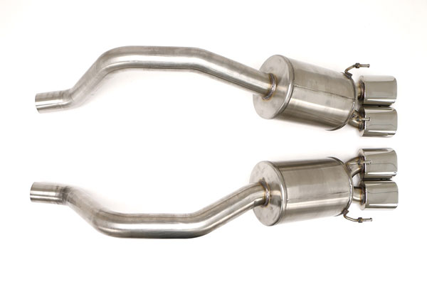 B&B Billy Boat Exhaust (FCOR-0469) B&B Corvette C6 Z06 ZR1 2006-13 PRT Exhaust System 4 1/2'' Quad Double-Wall OVAL Tips