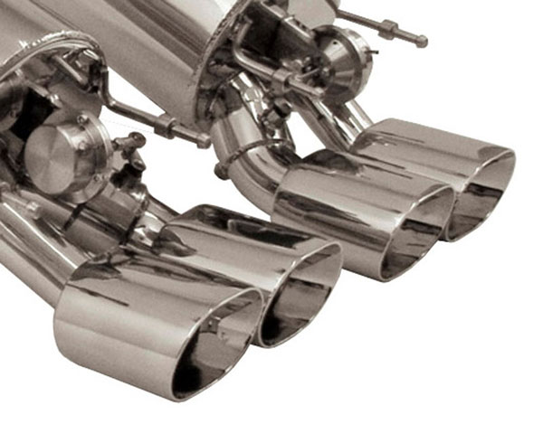 B&B Billy Boat Exhaust FCOR-0561: B&B Corvette C6 Z06 ZR1 2006-14 Gen 3 Fusion System Quad 4.5 Oval Round Tips