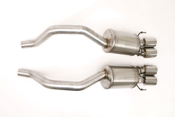 B&B Billy Boat Exhaust FCOR-0566: B&B Corvette C6 Z06 ZR1 2006-13 Gen 3 Fusion System Quad 4 Double Wall Round Tips