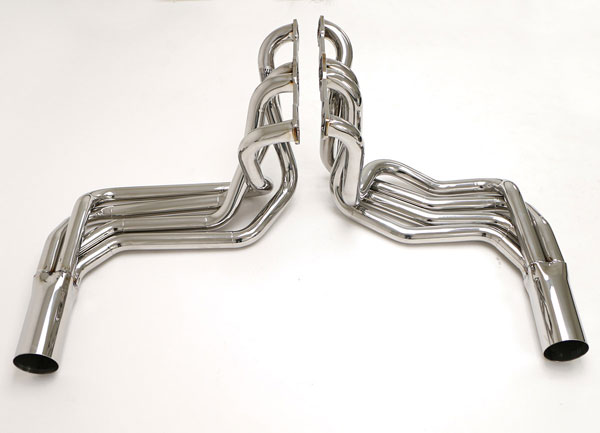 B&B Billy Boat Exhaust FCOR-0576 | B&B Billy Boat Corvette C3 Side Exit Headers Stainless Steel; 1968-1982