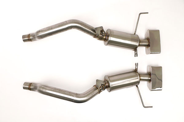 B&B Billy Boat Exhaust FCOR-0617: Billy Boat Corvette C7 Bullet Exhaust Axle-Back System Speedway Tips