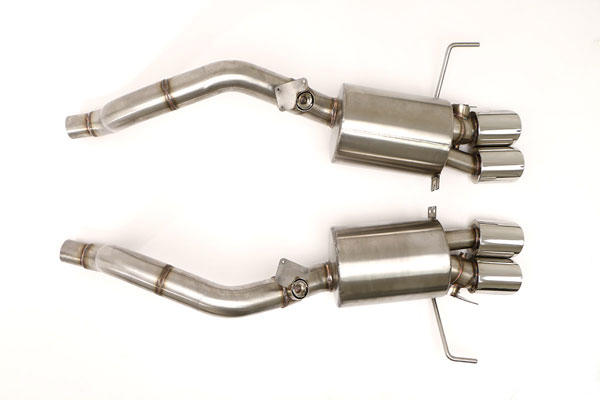 B&B Billy Boat Exhaust FCOR-0665 | B&B Billy Boat Exhaust Billy Boat Corvette C7 Fusion Exhaust Axle-Back System Quad 4 inch Double Wall Round Tips; 2014-2016