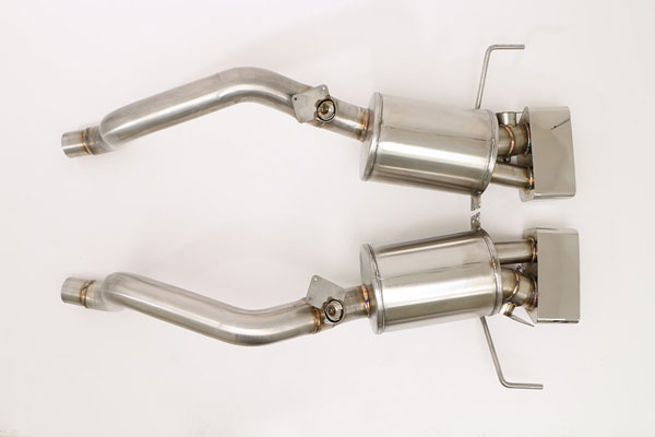 B&B Billy Boat Exhaust FCOR-0667: Billy Boat Corvette C7 Fusion Exhaust Axle-Back System Speedway Tips