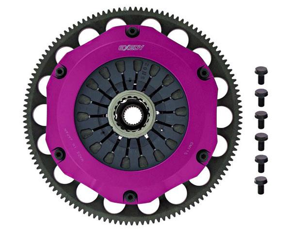 Exedy Racing ZM023SBMC | Exedy Hyper Triple Carbon-R Clutch Kit MAZDA RX-7 R2 1.3; Rigid Disc; Pull Type; 1993-1995