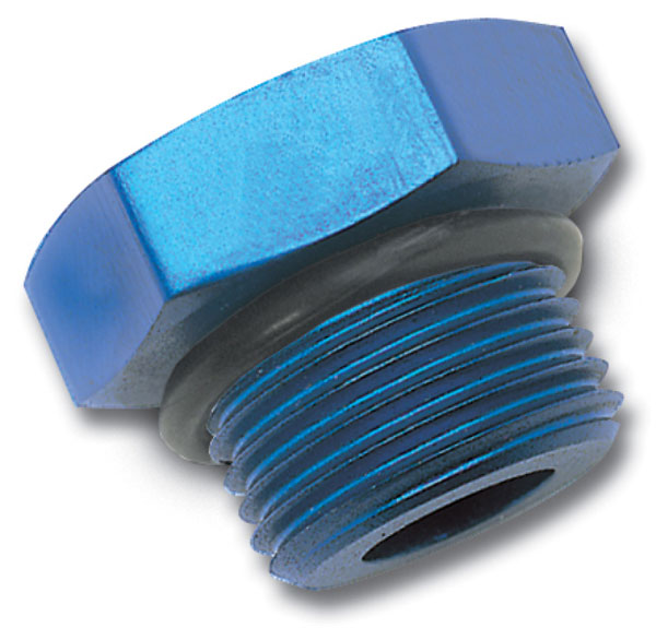 Russell 660260 | Performance -4 AN Straight Thread Plug (Blue)
