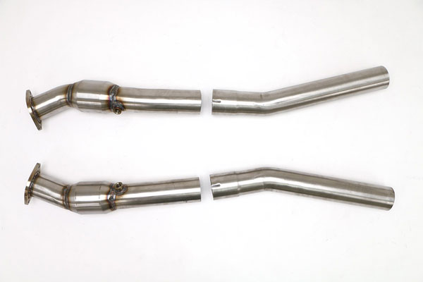 B&B Billy Boat Exhaust FDOM-0312: B&B Billy Boat CTS-V Front Pipes with Cats, 2004-07