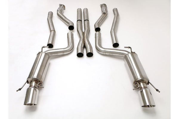 B&B Billy Boat Exhaust (FDOM-0323) Billy Boat Cadillac CTS-V Exhaust System 2009 - 2014 3'' Catback W/X-pipe 4.25'' Tips for B&B Headers