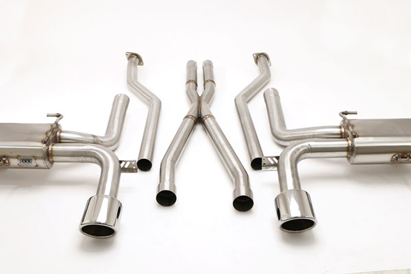 B&B Billy Boat Exhaust FDOM-0325 | B&B CTS V Coupe Exhaust system w/X-pipe; 2011-2015