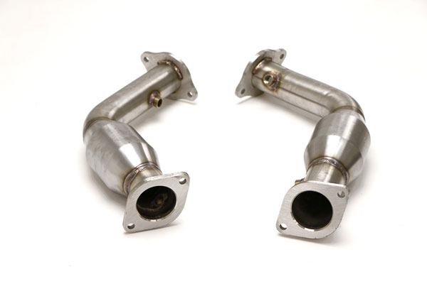 B&B Billy Boat Exhaust FDOM-0336: B&B Billy Boat CTS-V Front Pipes with Cats, 2009-14 High Flow Cat Pipes for OE Manifolds