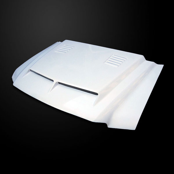 Amerihood FEXC00AHTEFHW |  Ford Excursion Type-E Style Functional Ram Air Cooling Hood; 2000-2006