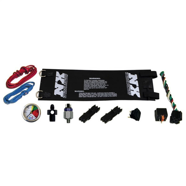 Nitrous Express 15939 | Heavy Duty Fully Automatic Bottle Heater (4AN) w/Gauge 14Amps