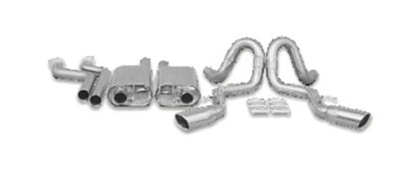 B&B Billy Boat Exhaust FIMP-0015: Billy Boat B&B Chevrolet Impala SS 1994 - 1995 2-1/2'' Side Exit